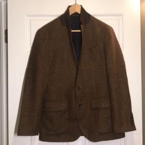 J Crew Flagship Ludlow Brown Wool Sportcoat 38S